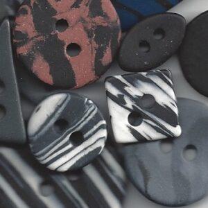 Sorte/grå knapper