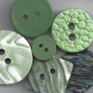 Grønne og grønlig knapper.